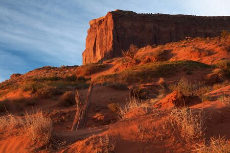 Sunrise on butte at Monument Valley, Arizona photo