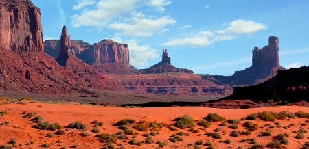 western usa: Beautiful landscape at Monument Valley, Arizona, usa Stock Photo