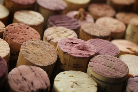 Close up of a cork wine with different variation of wine color Stock Photo - 13985141