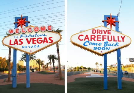The fabulous Welcome Las Vegas sign from front to back photo