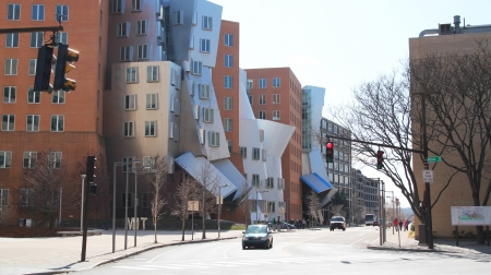 BOSTON, MA - 26 MARCH 2012 - Strata center in Boston designed by Pritzker Prize-winning architect Frank Gehry for the Massachusetts Institute of Technology (MIT)
