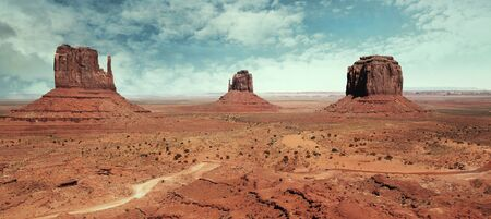 Beautiful and classic landscape at Monument Valley photo