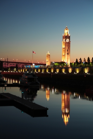 Clock tower in old port of Montreal city, Canada. Stock Photo - 15804142