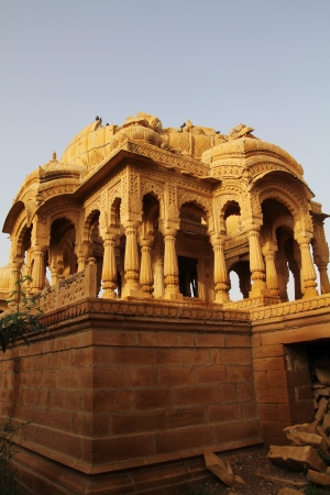 Vyas chhatri, or vyas cenotaphs , has  built by Brahmin as memoir are of 15th century full of art and stone carving  Stock Photo