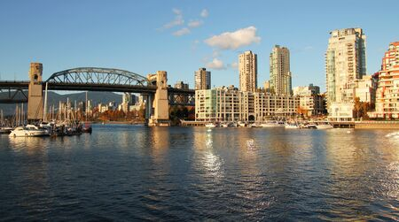 Vancouver skyline and the bridge by a nice sunny day  photo