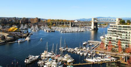 VIew from the bridge of grandville and the marina in Vancouver