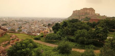 View of the blue city, jodhpur in Rajasthan, north of India