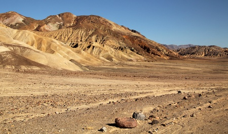 arid: Artists palette point view in Death Valley, California Stock Photo