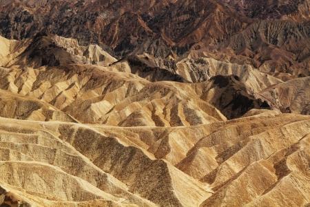 Detail of Zabriskie Point in Death Valley, California photo