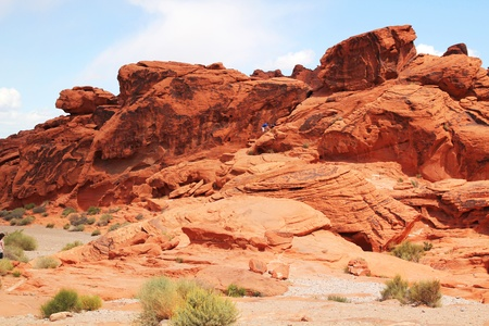 sedimentary: Red rocks at Valley of fire in Nevada