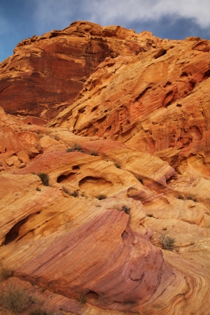 Beautiful landscape with red rocks at Valley of fire Stock Photo