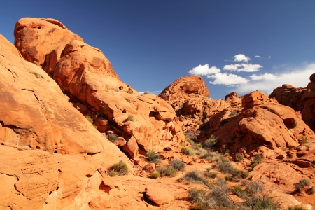 beautiful landscape with a nice day at Valley of fire