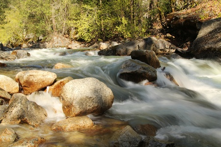 little cascades Tenaya creek at Yosemite national park in California Stock Photo - 21017711
