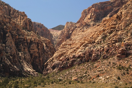 pine creek: Pine creek canyon at red rock canyon in Nevada, united states Stock Photo