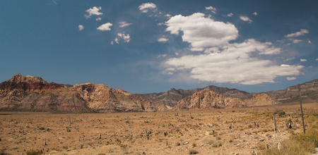 nevada: Panorama of red rock canyon in Nevada, united states Stock Photo