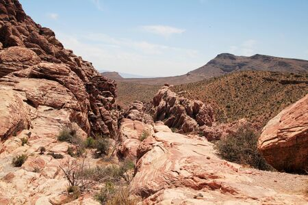 Beautiful landscape at red rock canyon in Nevada, united states photo