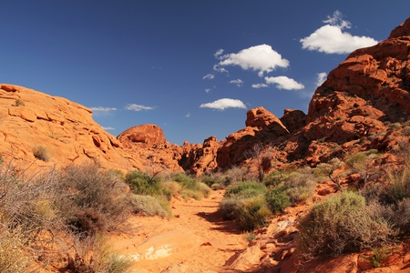 Beautiful landscape at Valley of fire in Nevada, United States Stock Photo