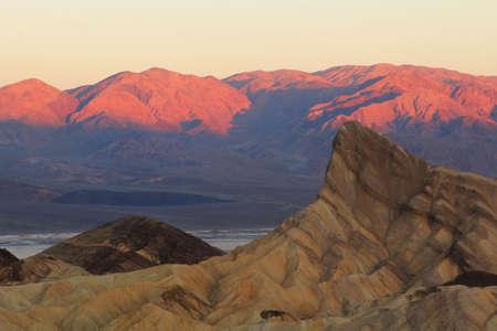 Sunrise at Zabriski point at Death Valley in United States photo