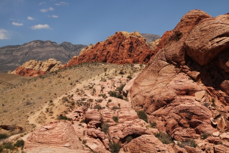 Nice landscape at red rock canyon in Nevada, united states photo