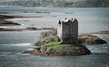 Beautiful view of Stalker castle in Highlands, Scotland, UK.