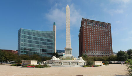 municipal court: Buildings and Niagara square in Buffalo, USA
