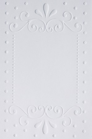 declaration: White embossed paper Stock Photo
