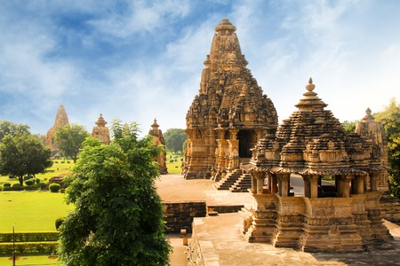 Khajuraho is a group of monuments and one of the most popular tourist destinations in India photo