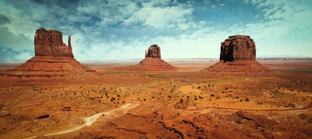 Beautiful and classic landscape at Monument Valley
