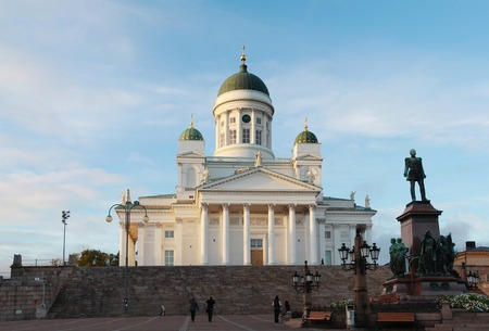 engel: Neoclassical cathedrale of Helsinki, Finland designed by Carl Ludvig Engel in 1830 Editorial