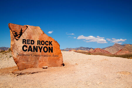 nevada: Red rock canyon entrance in Nevada, United States Stock Photo