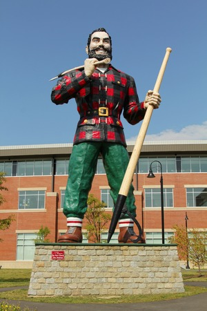 BANGOR, MAINE , USA - AUGUST 27: Statue of Paul Bunyan the giant lumberjack on august 27 in Bangor, USA