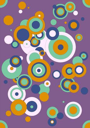 cempasuchil: Ilustraci�n de c�rculos de diferentes tama�os, de color morado, rosa claro, menta, naranja y cal�ndula. Formato vectorial EPS. Vectores