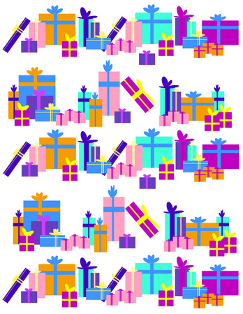 fuschia: Different colors and size of gifts on white background.  EPS vector format.