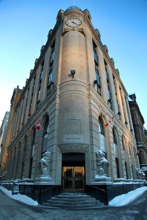 OTTAWA, CANADA - JANUARY 20, 2014: The Central Post Office is a historic building in Ottawa, Ontario, Canada. Editorial