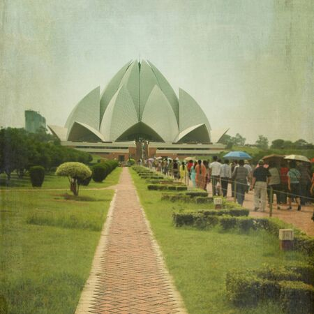 lotus temple: The Lotus Temple is located in New Delhi, India.  Shaped as a flowers, it has won numerous architectural awards and been featured in hundreds of newspaper.
