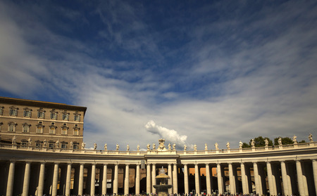 st  peter's square: View of St. Peters square with a nice blue sky in Rome, Italy Stock Photo