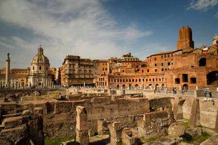 forums: Remains of The Forum of Augustus is one of the Imperial forums of Rome, Italy, built by Augustus.