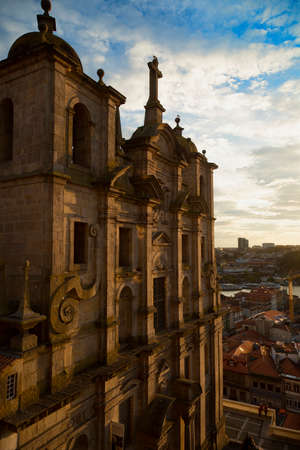 covent: Igreja De S. Lourenco built during the sixteenth century has a baroque facade is a church and covent in Porto, Portugal. Stock Photo
