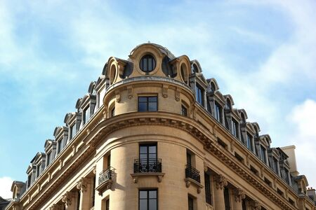 9th: Parisian typical building of the 9th arrondissement in Paris, France