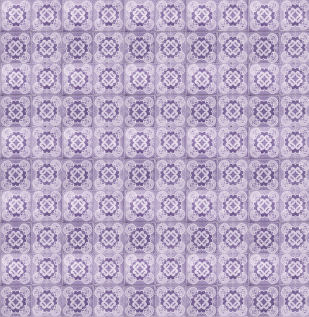 tillable: Collage of lilac tiles in Lisbon, Portugal repeated to create a seamless, tillable pattern.
