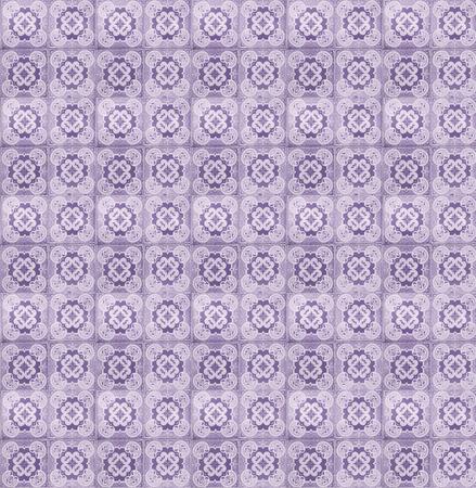 Collage van lila tegels in Lissabon, Portugal herhaald om een naadloze, beploegend patroon te maken.