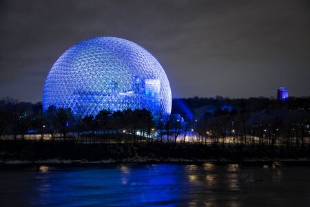 MONTREAL, CANADA - JANUARY 22, 2017: The Biosphere is a museum in Montreal dedicated to the environment. It was the pavilion of the United States during Universal exposition in 1967.