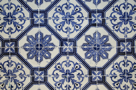 Colorful Ceramic Tiles Pattern From Lisbon, Portugal Stock Photo ...