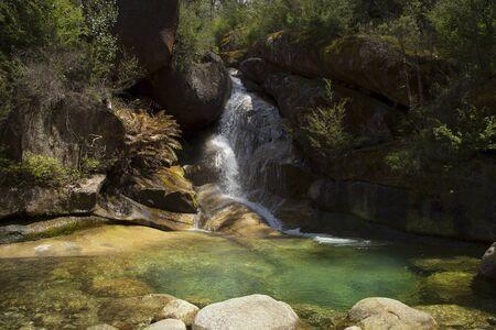 animal woman: Ladies bath falls in Mount Buffalo, Victoria in Australia