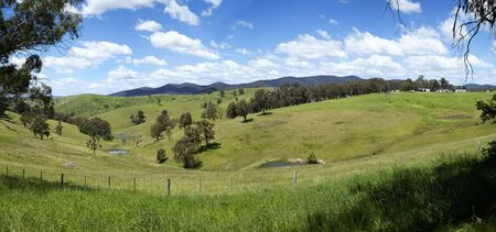 Beautiful view on hills at Buchan in Victoria, Australia