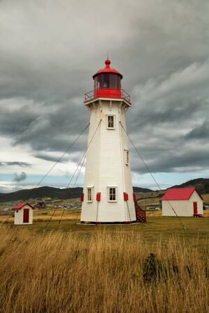 Lighthouse in Havre Aubert in Magdalen island in Quebec, Canada
