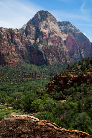 Deertrap mountain in Zion National Park in Utah in United States Imagens