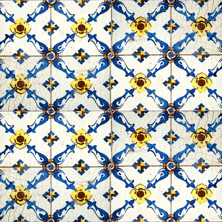 BLue and yellow tiles from Portugal