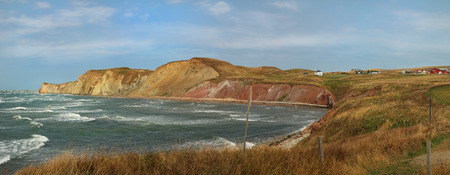 Panorama at lanse a Damase in Magdalen island in Quebec, Canada