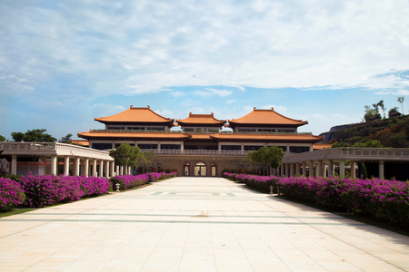 KAOHSIUNG, TAIWAN- NOVEMBER 19, 2018:  The Fo Guang Shan Buddha Museum is a Mahayana Buddhist cultural, religious and educational museum located in Kaohsiung, Taiwan and affiliated with Fo Guang Shan, one of Taiwans largest Buddhist organizations